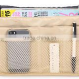 2016 OEM Dual Insert Multi-Function Travel Pouch Handbag-Makeup Tidy Organizer make up bag