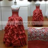 Unique red and beading Sex prom dress for special day Cocktail dress bridal gown wedding dress