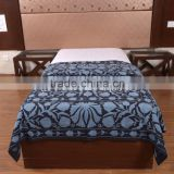 Indian Handmade Suzani Bedspread Cotton Ethnic Uzbek Bedding Boho Tapestry Wall Hanging Throw