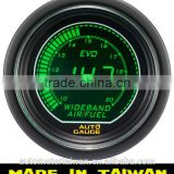 52mm digital green / white LCD Wideband Air / Fuel Ratio gauge with the most high accuracy 4.9 Bosch sensor