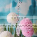 Transparent swirl hook with acrylic beading chandelier drop for garland prism decoration