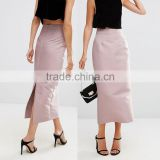 OEM service supply type nipped waist back split maxi korean latest model long skirt fashion design