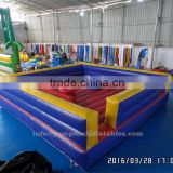 adults Inflatable gladiator cheap price 5Lx5W meter Inflatable Jousting Arena for hire with joust stick