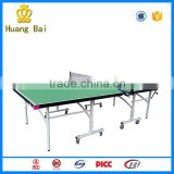 Easy folding table tennis table with wheel ping pong table outdoor school gym equipment