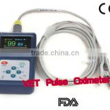 CE FDA Approved 1.8 inch Handheld Vet Pulse Oximeter veterinary use Animal blood oximeter SPO2 PR with PC software