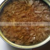 Canned skipjack tuna shredded in sunflower oil 185g