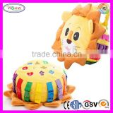 C328 Soft Lion Toddler Early Learning Basic Life Skills Children's Plush Stuffed Soft Toys for Toddlers
