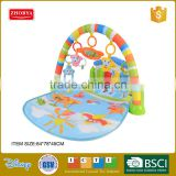 Zhorya piano baby gym baby play mats toys kids Mattress with 5 baby rattles
