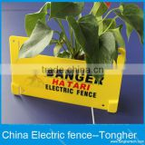 customized electric fencing warning sign dangerous warning board caution boards plastic voltage caution sign