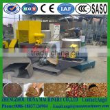floating fish feed extruder machine / dry type single screw feed extruder machine