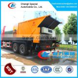 8cbm bitument asphalt tank and 12cbm gravel bucket synchronous chip sealer,asphalt mixer truck