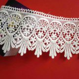 L2-00002 2016 Single side natural cotton embroidery wedding dress lace