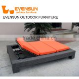 China evensun outdoor furniture factory rattan wicker teak modern sun lounge
