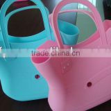 Beach candy bag silicone beach bag colorful silicone handbags fashion diamond silicone tote bags