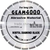 Laser Welded Segmented small diamond blade for extremely abrasive material (GEAM)