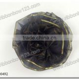 Black Organza Wire Edge Ribbon Decoration for Clothing