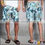 Ecoach hot sell Tropical Print elasticized drawstring waistband 100%polyester custom blank board shorts for men