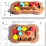 Pet dog puzzle toys bones claw type new wood multi - functional play feeding pet cat toys