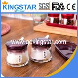 clear glass spice jar