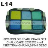L14 6 PC 6 COLOR CHALK SET