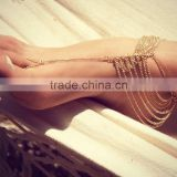 Simple Gold Plated Toe Ankle Bracelet Anklet Chain Link FootJewelry