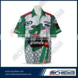 custom manufacturer for Race pit crew Shirts 1/4zipper couple t-shirt polo racing shirt for men