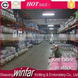 Shaoxing Winfar Manufacture lycra knitted fabric single jersey stock lot