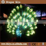 2015 hot sale Beautiful peacock silk latern for New Year