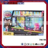 Lovely Plastic house play set for kids Villa house model toy