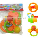 Baby Infant and Toddler Rattles Teether Holder Play Set Flower Car