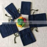 100% cotton plain dyed small pouch with any size