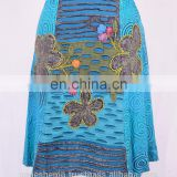 Beautiful Razor Cut Blue Shade Summer Medial Dress HHCS 121