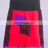 Bohemian Ruby Red Floral Patchwork Mini Skirt HHCS 109 C