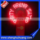 Hot sale LED flashing message fan for summer night