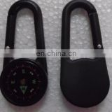 Wholesale and hot selling cheap fashion compass carabiner key chain for promotion gift high quality OEM