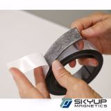 For Refrigerator Door Adhesive Flexible Rubber Magnet Strip/ Sticky Back Roll Fridge Magnet