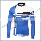 custom design sublimation print long sleeve quick dry bicycle jersey