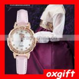 OXGIFT The latest waterproof ladies brand personality quartz watch, leather strap ladies watches wholesale OX-DWZ236