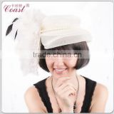 adult womens white french style royal party dancing hats