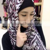 wholesale new women fashion printed floral high quality chiffon shawls muslim hijab muslim scarves