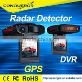 Ambarella A7 2015 New Security Products full HD 1080P Manual Radar Detector with Car DVR Camera