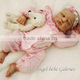 silicone vinyl reborn doll kit/silicone baby doll manufacturer china/baby doll lifelike weighted newborn