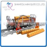 Mini Qute DIY intellect train rail track Transport vehicle action figure plastic building block model educational toy NO.25413
