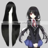 High Quality 100cm Long Black Hair Wig Straight Final Fantasy Anime Cosplay Wig