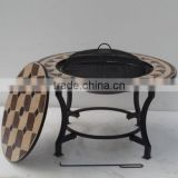 Patio heater barbecue fire bowl table