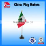 Custom Mexico Nation Logo Desk Table Flag With Plastic Stand                                                                         Quality Choice
