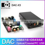 FX-Audio DAC--X3 Fiber Coaxial USB Decoder 24BIT/192Khz USB DAC Headphone 192khz Decoder audio amplifiers