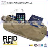Money Belt RFID Travel Waist Bags Wallet for Passport with Zipper Pockets                                                                         Quality Choice