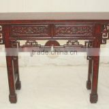 chinese antique two drawer red altar table