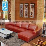 Living Room Luxury Furniture Genuine Leather Sectional Sofa Set J870